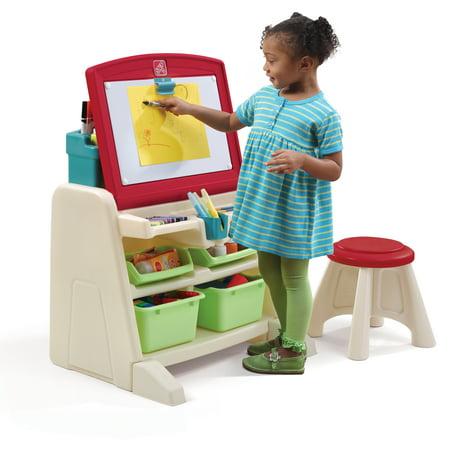 Art Station For Kids (Step2 Flip & Doodle Easel Desk with Stool and Plenty of)