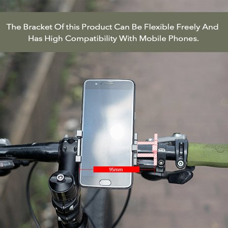 Aluminum Alloy Mobile Phone Bracket Mountain Bike Motorcycle Electric Car Navigation 360 degree Rotation Holder Motorcycle Bicycles Clip - image 5 de 7