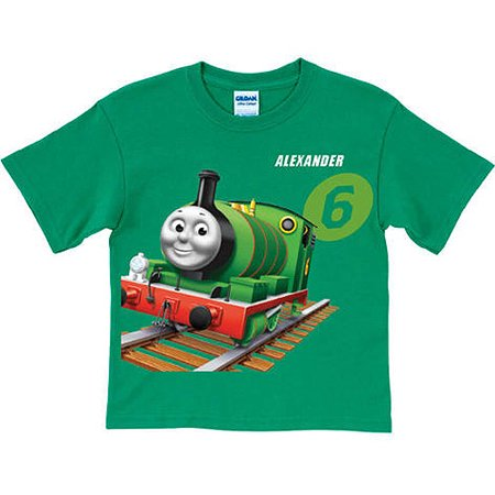 Personalized Thomas & Friends Percy Green Boys' T-Shirt (Thomas Edison Shirt)