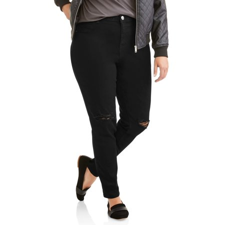 A3 Denim Must Have! Women's Plus Sized Destructed Skinny Jean