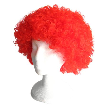 SeasonsTrading Economy Red Afro Wig - Halloween Costume Party - Cheap Red Wig
