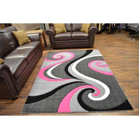 Ivy Bronx Mccampbell 3d Modern Contemporary Abstract Pinkgray Area