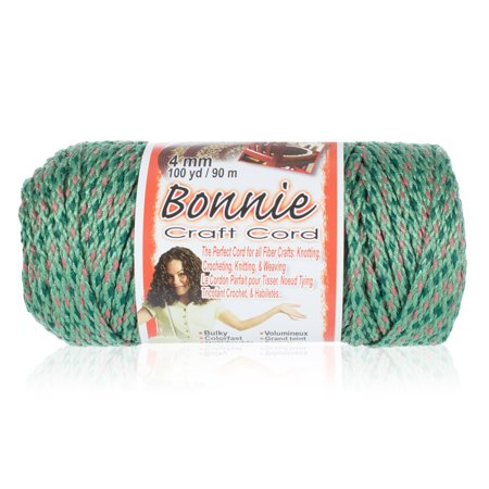 Craft County Bonnie Macrame Cord - 4mm - 100 yd Lengths - Various Colors ()