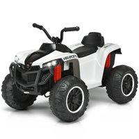 Gymax 12V Kids 4-Wheeler Quad ATV Battery Powered Ride On Toy w/ Lights & Music