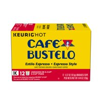 Café Bustelo Espresso Style K-Cup Pods for Keurig K-Cup Brewers, Dark Roast Coffee, 12 Count