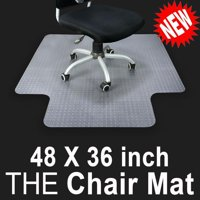 "Ktaxon 36"" x 48"" Home Office Chair Pvc Floor Mat with Lip for Carpet"