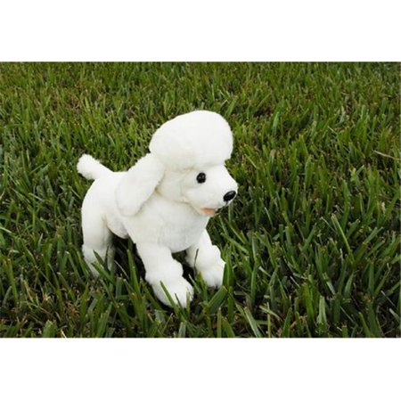 Sunny Toys NP84148 10 in. Poodle - White, Sitting