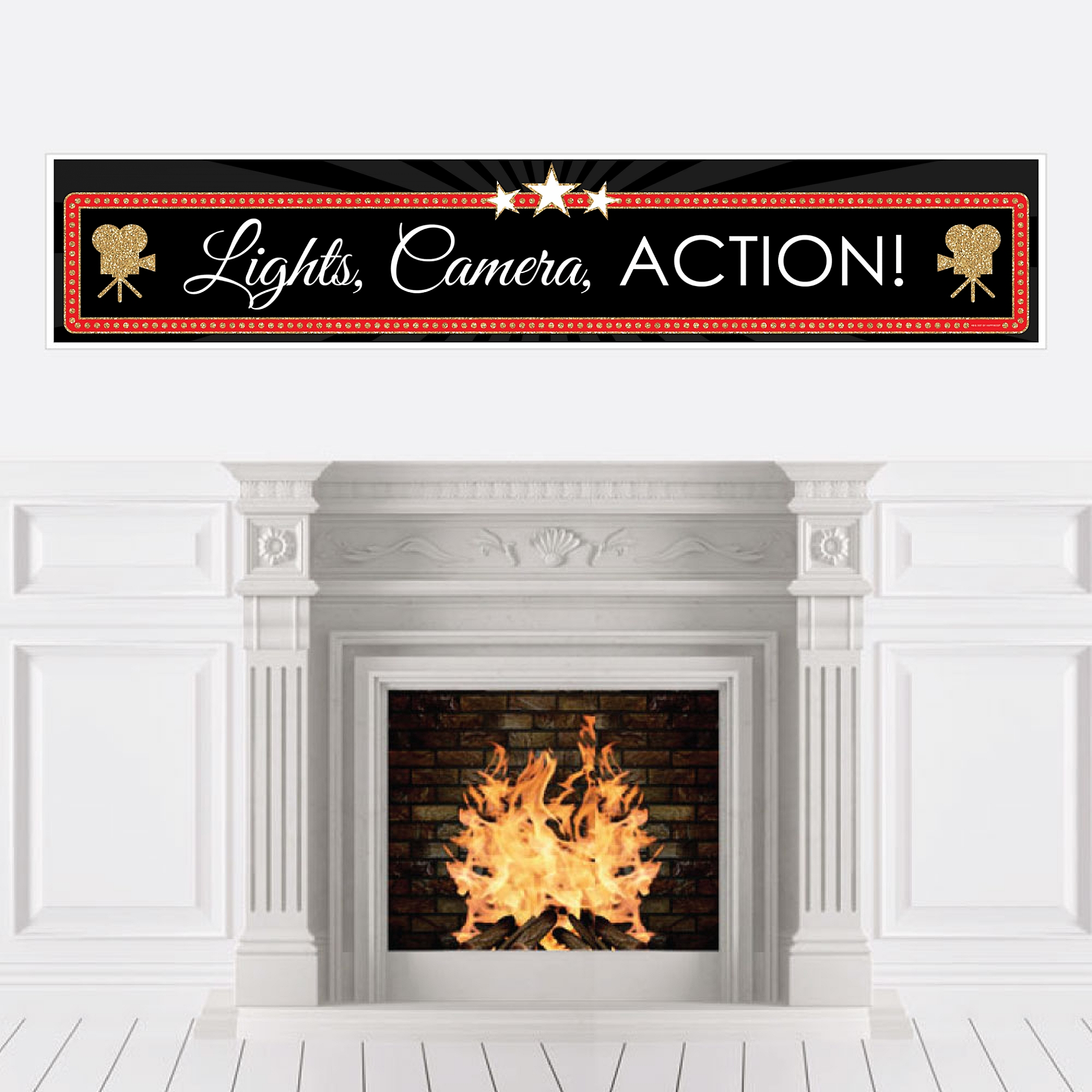 Red Carpet Hollywood - Movie Night Party Decorations Party Banner