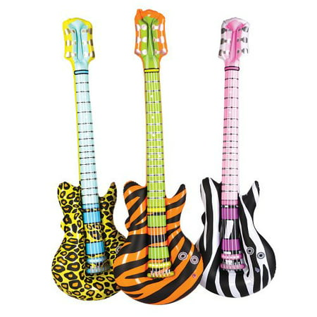 Rock Star Birthday Invitations (Inflatable Animal Print Rock Star Guitars (1)