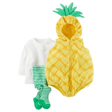 Carters Costume Girl Pineapple Yellow