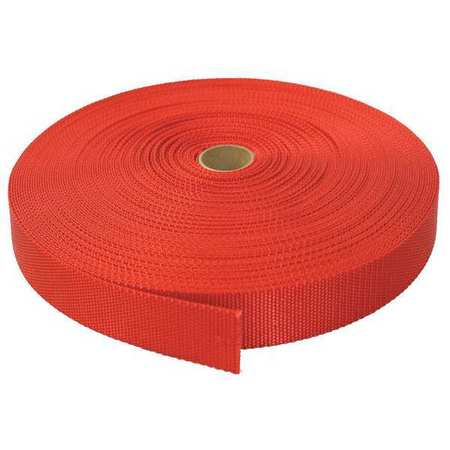 BULK-STRAP N01150R Strap Webbing,150 ft. x 1 In.,3800 lb.