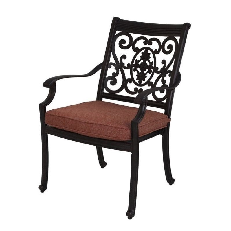 Darlee St. Cruz Patio Dining Chair in Antique Bronze (Set of 4)