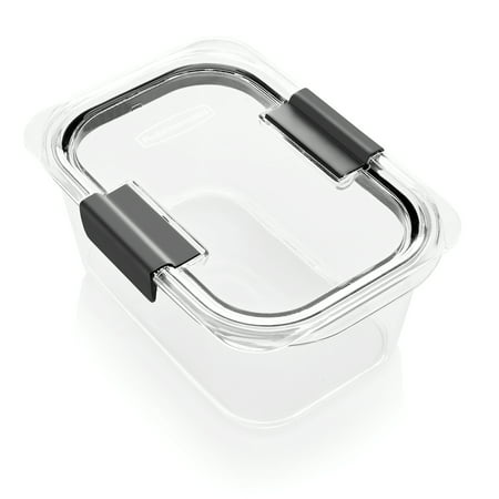 Clear Square Food Storage Container (Rubbermaid Brilliance Food Storage Container, 4.7 Cup/1.11 Liter, Clear)