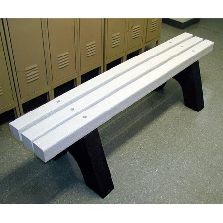 Wondrous Engineered Plastic Systems Sb4 4Ft Sports Bench In White No Back Ibusinesslaw Wood Chair Design Ideas Ibusinesslaworg