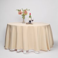 """BalsaCircle 120"""" Round Polyester Tablecloth for Party Wedding Reception Catering Dining Home Table Linens"""