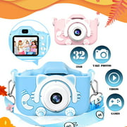 Kids Camera for Girl Boys, Kids Selfie Camera, 20.0MP HD Digital Video Camera for Children, Dual Camera Camcorder, 2.0 Inch IPS Screen, Support 32GB Memory Card, Great Birthday Gift for 2-14 Y