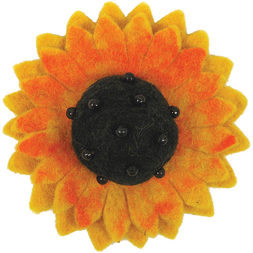 Dimensions Felt Embellishments, Sunflower Multi-Colored