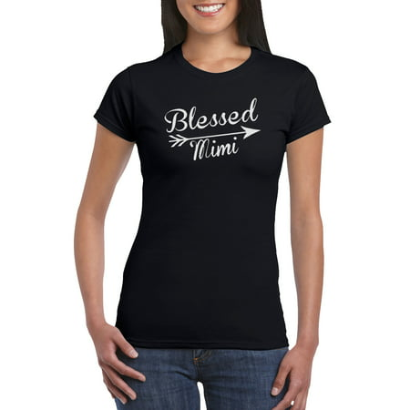 d6dfad26941f The Red Garnet Clothing Co. - Blessed Mimi T-Shirt Gift Idea for Women -  Unique Birthday Present, Funny Gag for Grandma, Baby Shower, Newborn, ...