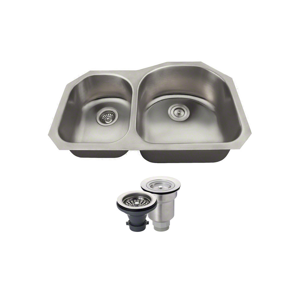 MR Direct US1031R 18 Gauge Undermount Stainless Steel 31-...