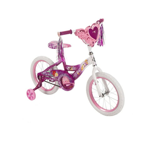 "Disney Princess 16"" Girls' Pink Bike with Heart Basket, by Huffy"