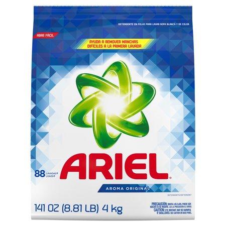 Ariel Original, 88 Loads Powder Laundry Detergent, 141 Oz Powder Load Discs