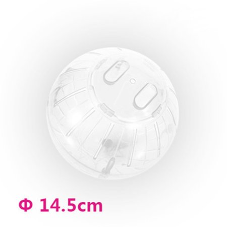Plastic Pet Rodent Mice Jogging Ball Toy Hamster Gerbil Rat Exercise Balls Play Toys Color:Pure white Specification:10cm*10cm*10cm