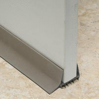 Frost King UDB77 Slide-On Door Sweep, PVC, (Brown Door Sweep)