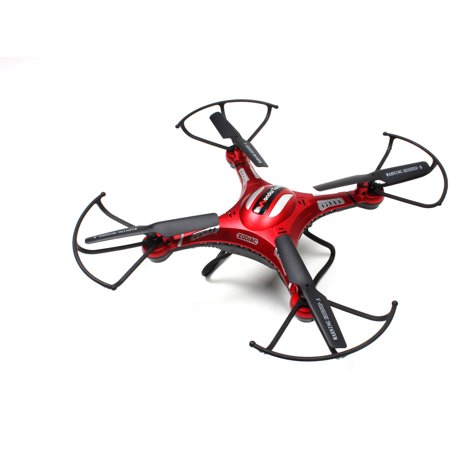 Limited Offer WonderTech Zodiac RC 6-Axis Gyro Remote Control Quadcopter Flying Drone with HD Camera, LED Lights, Red Before Special Offer Ends