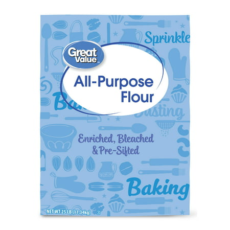 Great Value All Purpose Flour, 25 lbs - Walmart com