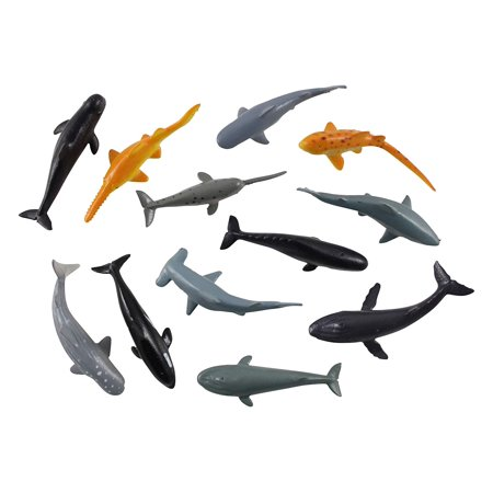 Whale Calf Animal Figure (Miniature Sharks and Whales Ocean Animal Figurines Replicas - Mini Action Figures - Miniature Animal Playset - Continent)