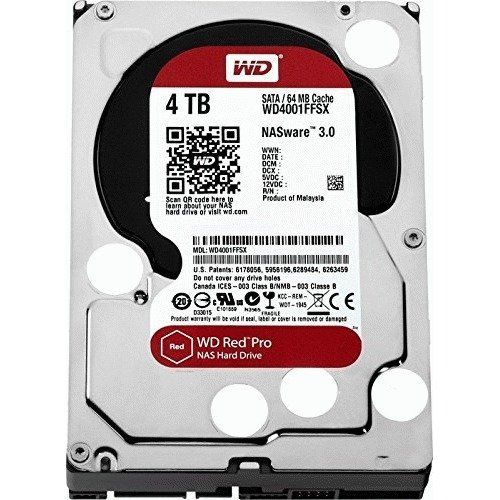 "Wd Red Pro Wd4002ffwx 4 Tb 3.5"" Internal Hard Drive - Sata - 7200 - 128 Mb Buffer (wd4002ffwx)"