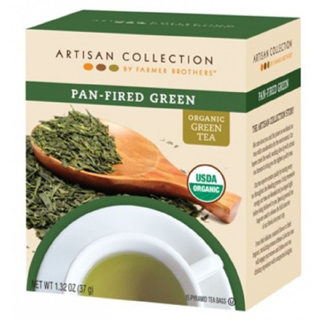 Green Tea Pan Fired 1/15 ct box Farmer Brothers Artisan USDA Organic ()