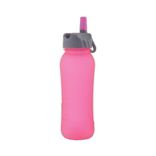 Nathan Hydration 2014 Tritan Flip Straw Water Bottle - 700ml - 4023 (HiViz Pink Frosted)