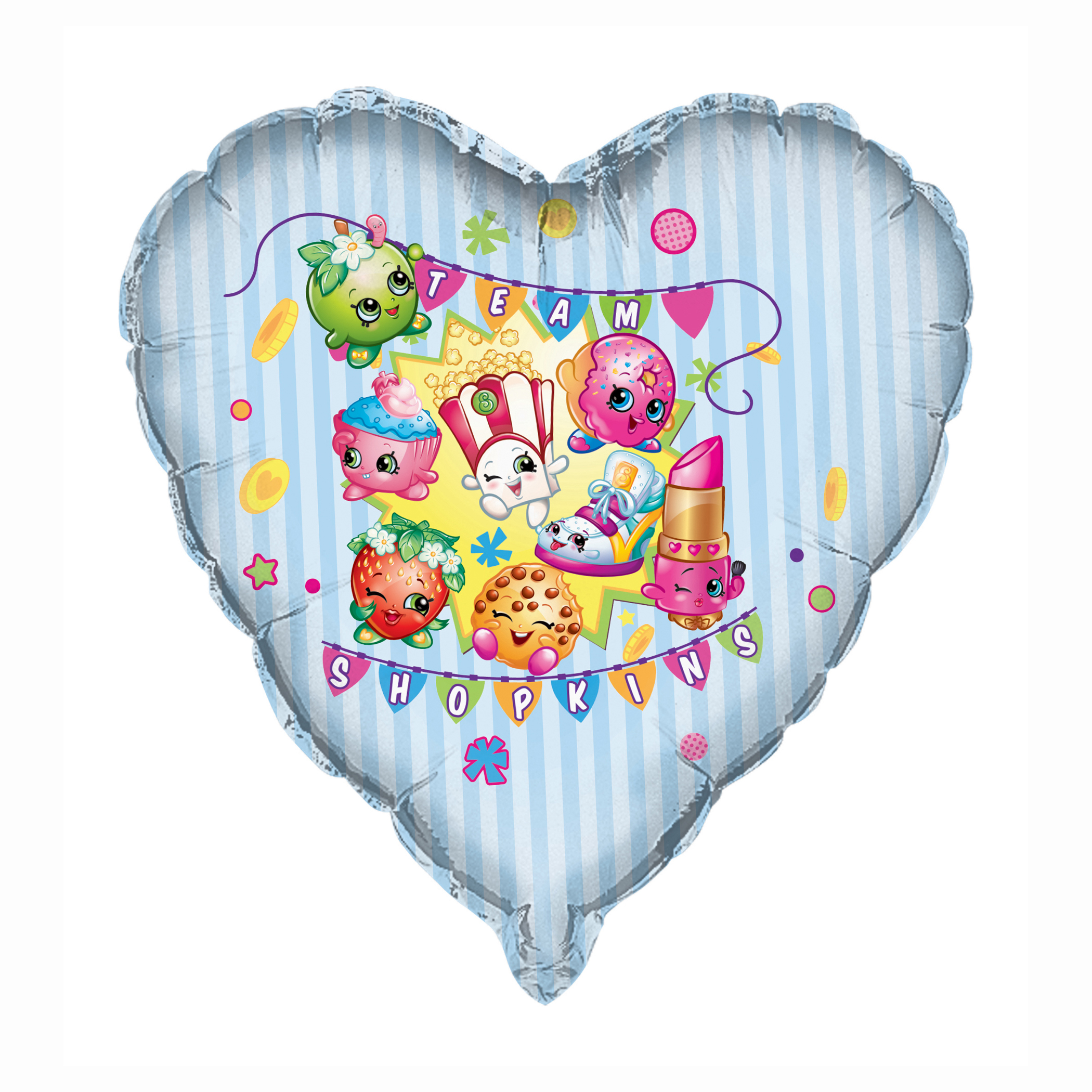 Foil Shopkins Balloon, Heart-Shaped, 28 in, 1ct