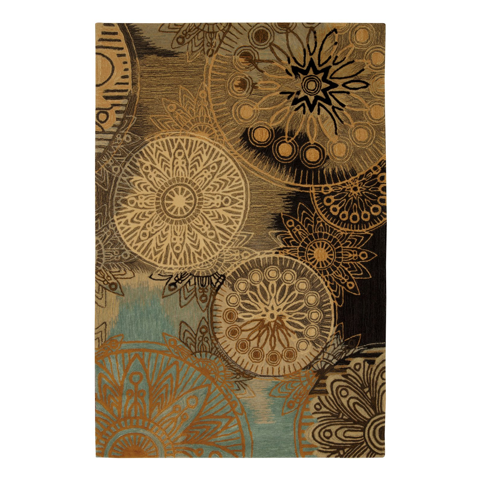 "Nourison Contour CON45 Handmade Rug, Multicolor, 8' x 10'6"""