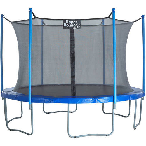 Upper Bounce 15-Foot Trampoline, with Safety Enclosure Net, Blue