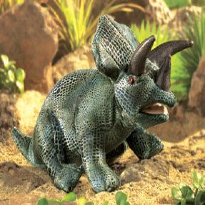 Folkmanis Triceratops Hand Puppet