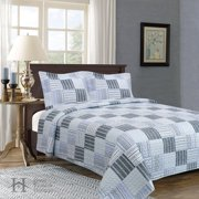 Everly Collection 3-Piece Printed Quilt Set with Shams By Home Fashion Designs