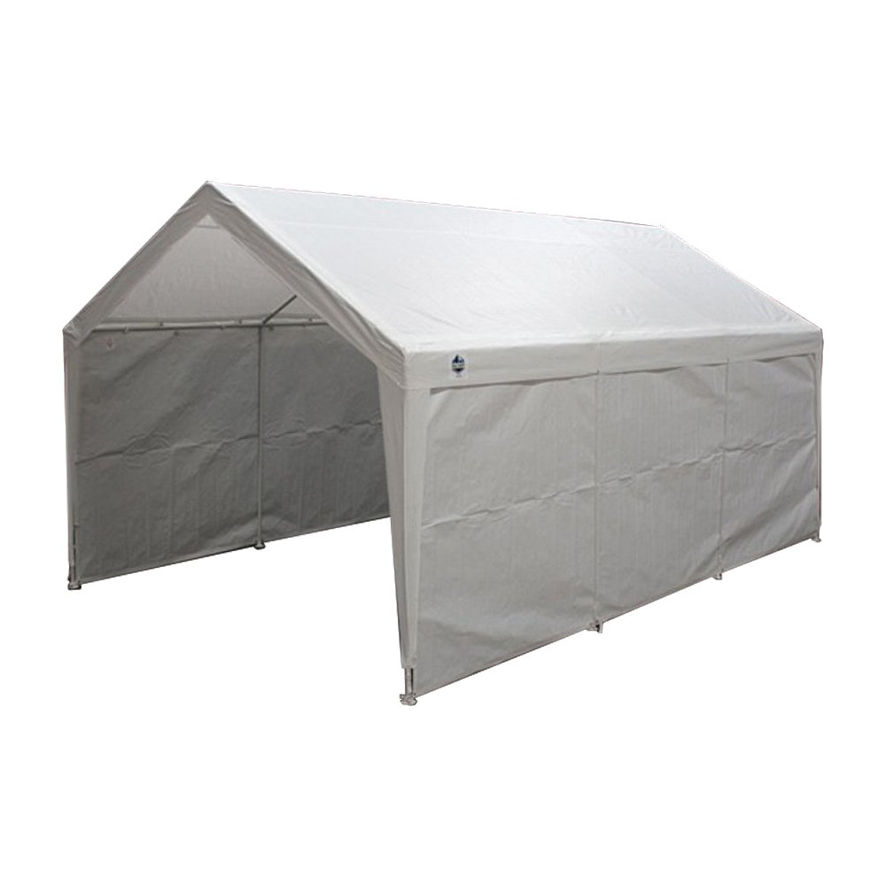 True Shelter 10u0027 x 20u0027 Car Canopy Gazebo Tent Cover 8 legs steel Frame  sc 1 st  Walmart & True Shelter 10u0027 x 20u0027 Car Canopy Gazebo Tent Cover 8 legs steel ...