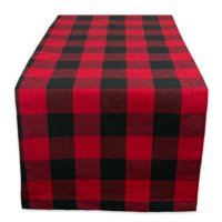 """Design Imports Buffalo Check Table Runner, 72""""x14"""", 100% Cotton, Multiple Colors/Sizes"""