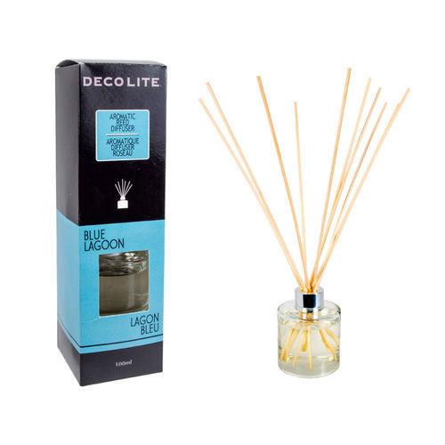 Scented Reed Diffuser, For Aromatherapy,Home Air Freshener 100ml Blue Lagoon - image 1 de 1