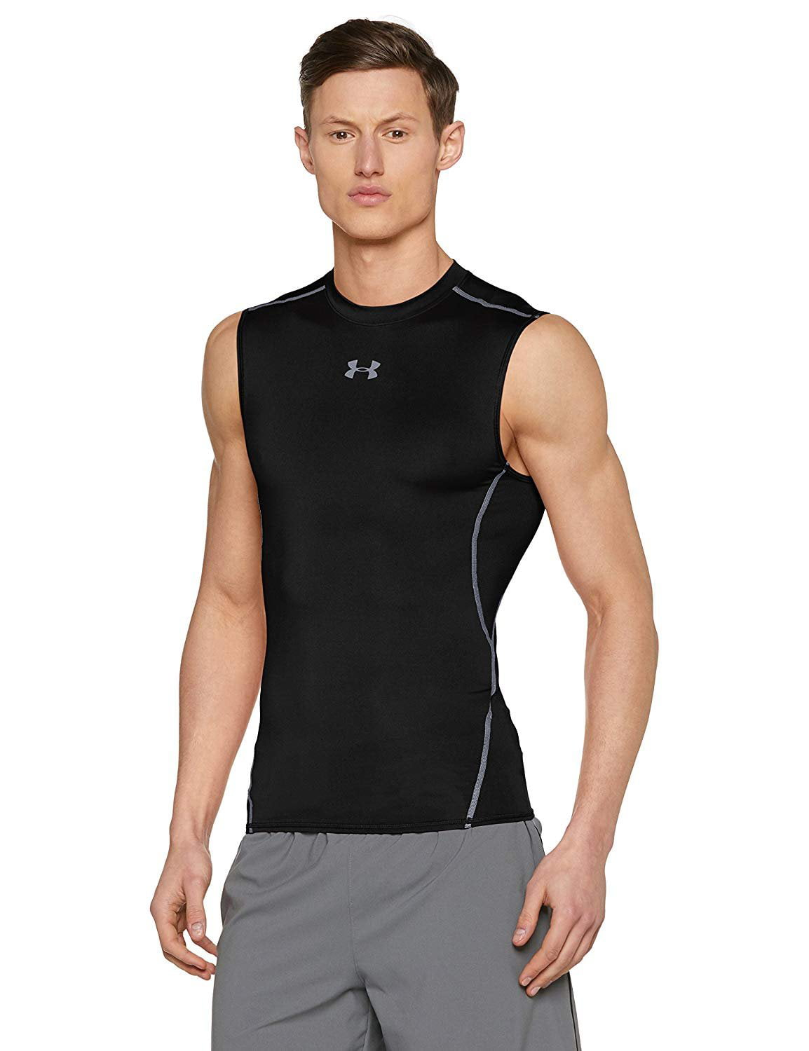 Under Armour Men/'s Sleeveless Armour Compression T-Shirt RED bnwt.
