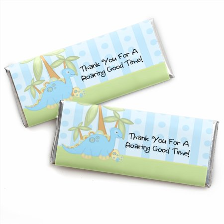 Baby Boy Dinosaur - Baby Shower Candy Bar Wrappers Party Favors - Set of (Boy Candy Wrappers)