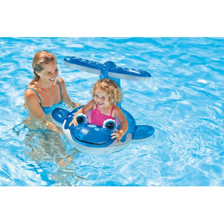 Intex whale pool baby float for Can babies swim in saltwater pools