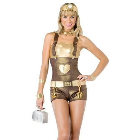 Leg Avenue Sexy Gold Digger Sexy Gold Digger Miner Girl New Adult Halloween Costume (Diamond Digger Halloween)