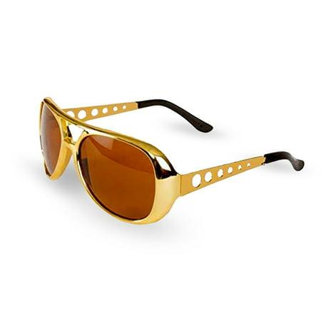 50's / 60's Gold Elvis Rockstar Rock & Roll Style Aviators