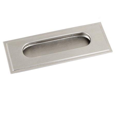 Unique Bargains Silver Tone Metal Cupboard Drawer Dresser Flush Pull Handle 11cm x 4.2cm