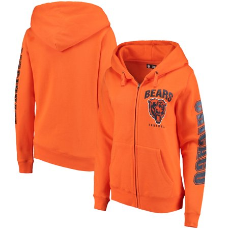 Chicago Bears New Era Women s Playbook Glitter Sleeve Full-Zip Hoodie -  Orange - Walmart.com 0a71a177b