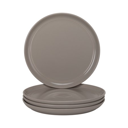 "10 Strawberry Street Double Line - Gray - 8.25"" Salad Plate - Set of 4"