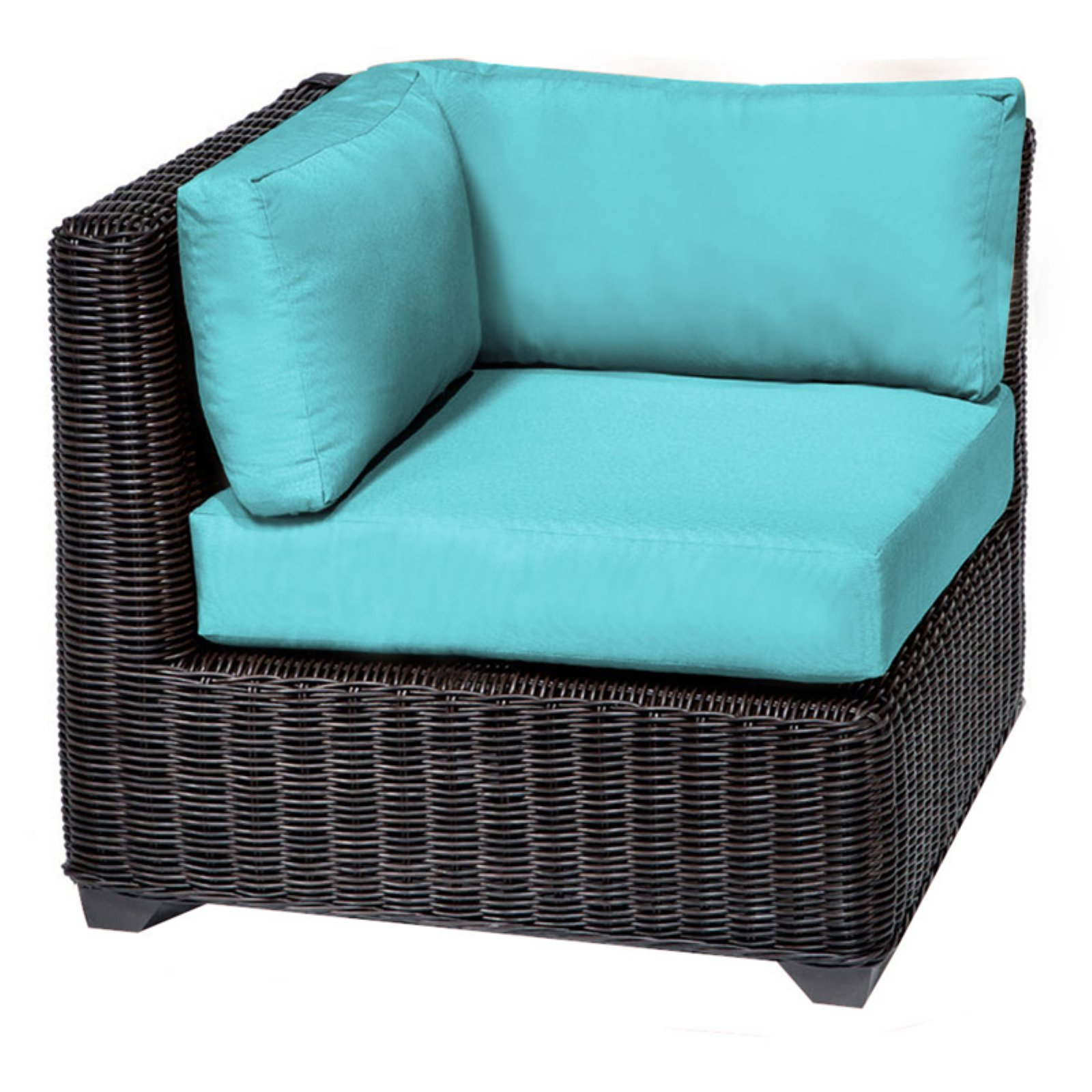 TK Classics Venice Outdoor Corner Chair with 2 Sets of Cu...